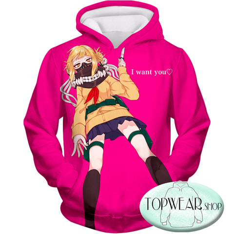Image of My Hero Academia Hoodies - CVillain Himiko Toga Ultimate Anime Pullover  Hoodie