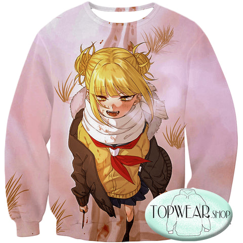 Image of My Hero Academia Hoodies -  Crazy Cute Dangerous Villain Himiko Toga Pullover Hoodie