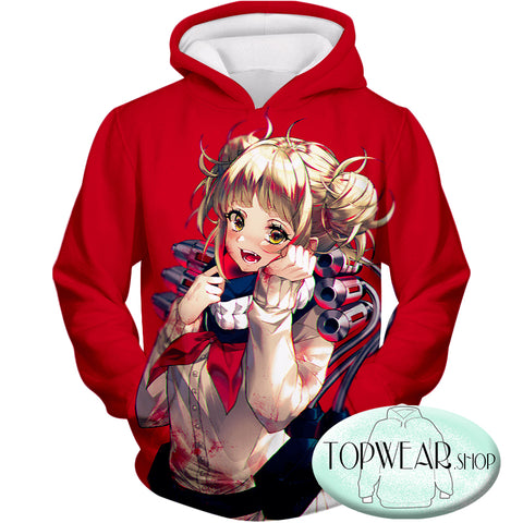 Image of My Hero Academia Hoodies - -Cute Anime Villain Himiko Toga Awesome Pullover Hoodie