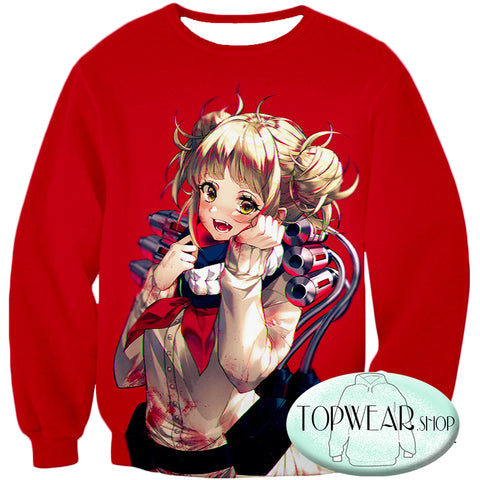 Image of My Hero Academia Sweatshirts - Cute Anime Villain Himiko Toga Awesome Sweatshirt