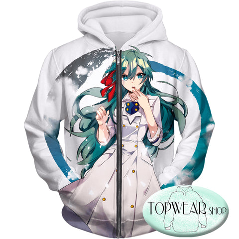 Image of My Hero Academia Hoodies - Cute Blue Haired Anime Girl Super Cool Pullover Hoodie