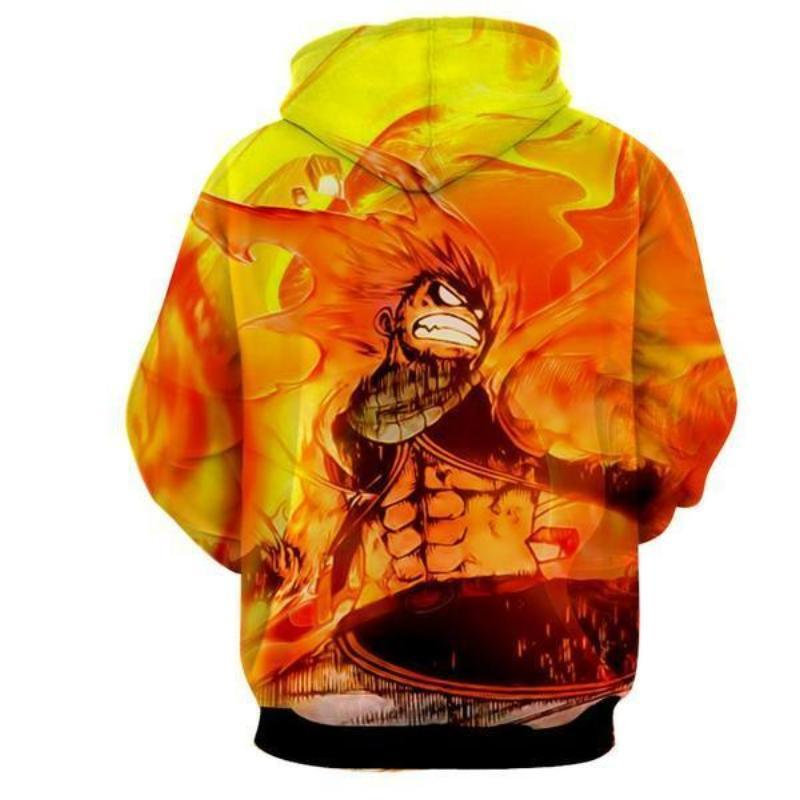 Fairy Tail Natsu Fire Of Dragon 3D Printed Hoodie
