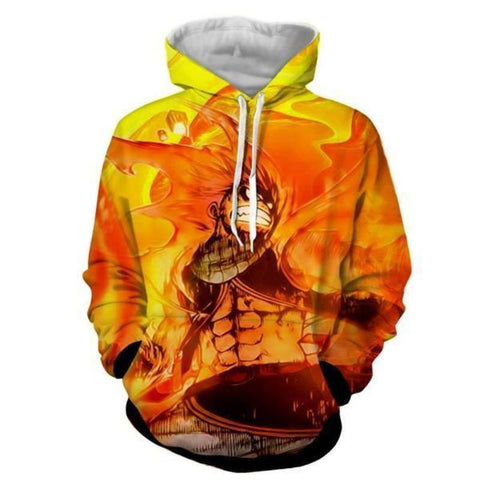 Image of Fairy Tail Natsu Fire Of Dragon 3D Printed Hoodie