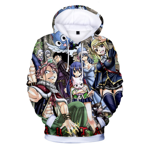 Fairy Tail Hoodies - Fairy Tail Anime Series Hero Combination Super Cool Hoodie