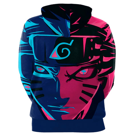 Image of Naruto 3D Print Digital Print Purple Hoodie