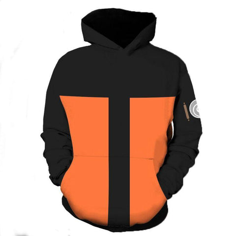 Image of Naruto Hoodies - Uzumaki Unisex 3D Zip Up Hoodie