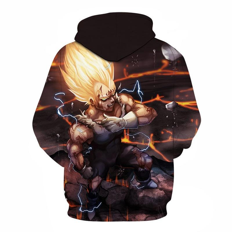 Dragon Ball Super Saiyan Vegeta 3D Hoodie