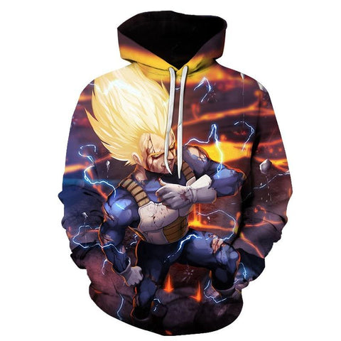 Image of Dragon Ball Super Saiyan Vegeta 3D Hoodie