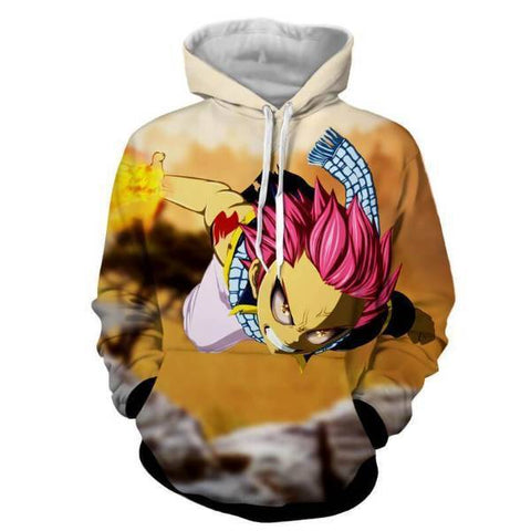Image of Fairy Tail Natsu Dragneel Dragon Force Mode 3D Printed Hoodies