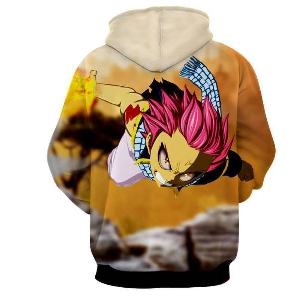 Fairy Tail Natsu Dragneel Dragon Force Mode 3D Printed Hoodies
