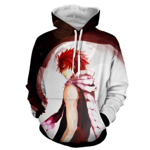 Image of Natsu Dragneel Fairy Tail Black & White 3D Hoodies
