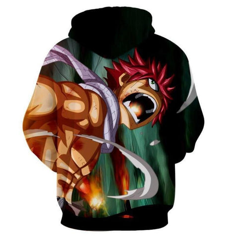 Image of Natsu Dragneel Green Fairy Tail 3D Hoodies