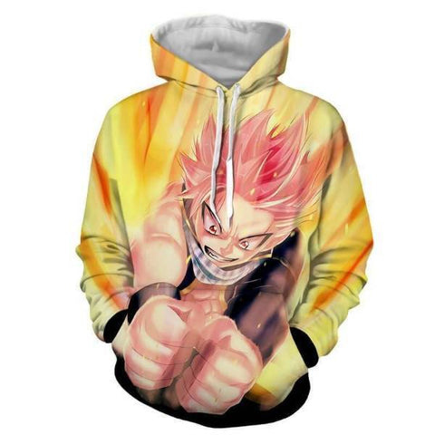 Image of Fairy Tail Natsu Dragneel Smash 3D Printed Hoodies