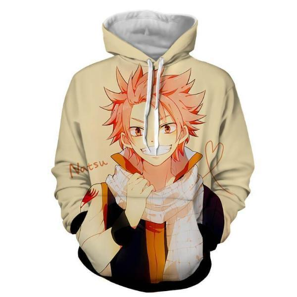 Fairy Tail Natsu Dragneel Yellow 3D Printed Hoodies
