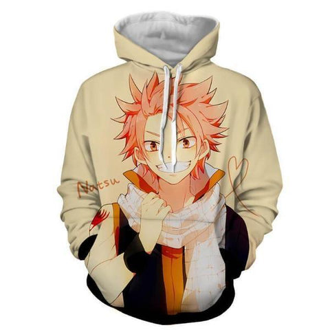 Image of Fairy Tail Natsu Dragneel Yellow 3D Printed Hoodies