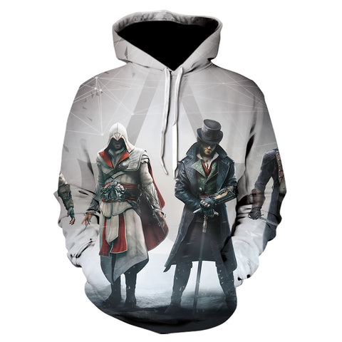 Image of 3D Print Assassin's Creed Hoodie - Fashion Sweatshirt