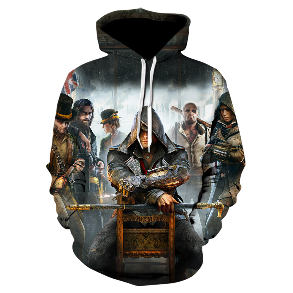 3D Print Assassin's Creed Hoodie - Fashion Sweatshirt