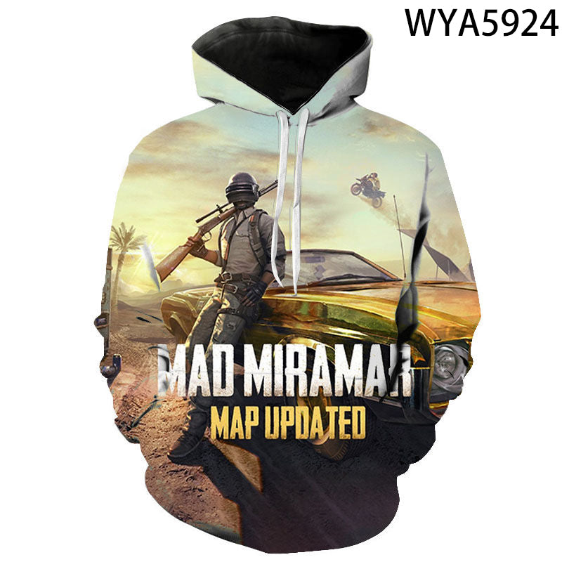 Game Playerunknown's Battlegrounds PUBG 3D Print Men's Hoodies