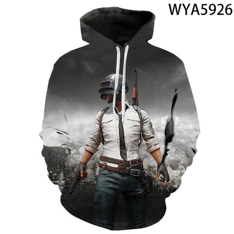 Image of Game Playerunknown's Battlegrounds PUBG 3D Print Men's Hoodies