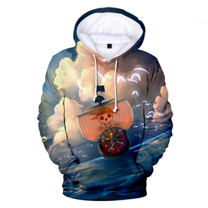 One Piece Hoodies - One Piece Anime Pirate Ship Series Super Cool Hoodie