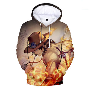 One Piece Hoodies - One Piece Anime Fire Fist Ace Series Super Cool Hoodie