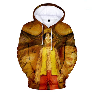 One Piece Hoodies - One Piece Series Anime Character LUFFY Super Cool Hoodie