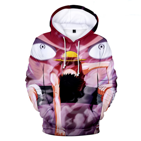 One Piece Hoodies - One Piece Series Anime Anger LUFFY Super Cool Hoodie