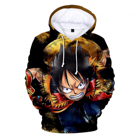 One Piece Hoodies - One Piece Series Anime Ace Fire Storm Super Cool Hoodie