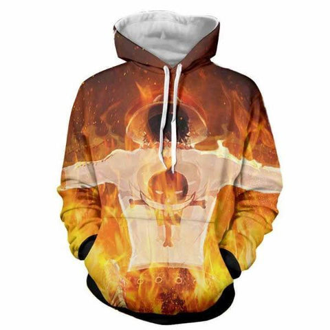 Image of One Piece Fire Fist Ace 3D Printed Hoodie