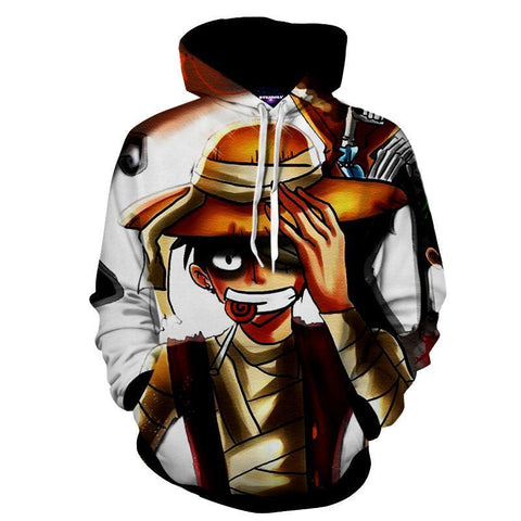 Image of One Piece Pirate King Luffy 3D Printed Hoodie