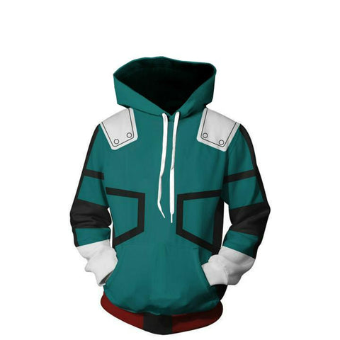 Image of My Hero Academia Hoodies - Coslay Izuku Midoriya Boku No Hero Academia Deku Zip Up Hoodie