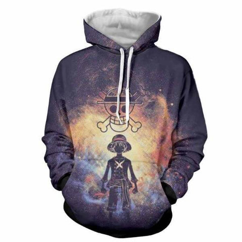Image of One Piece Pirate King Luffy 3D Hoodie