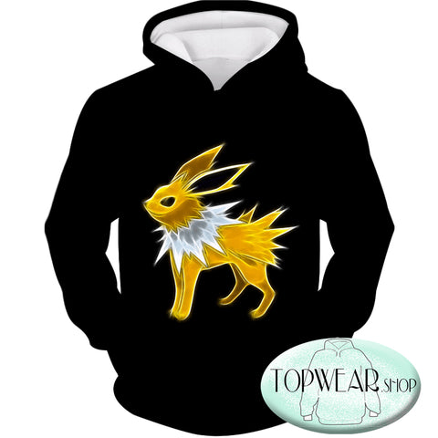 Image of Pokemon Hoodies - Eevee Thunder Type Evolution Jolteon Hoodie