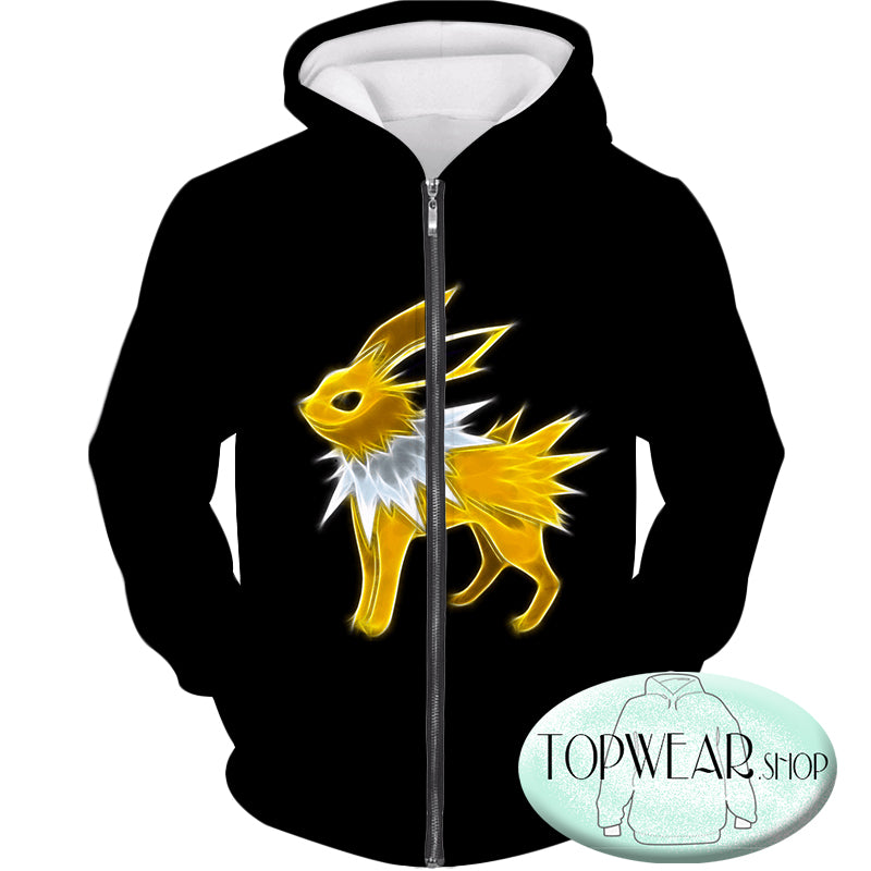Pokemon Hoodies - Eevee Thunder Type Evolution Jolteon Hoodie