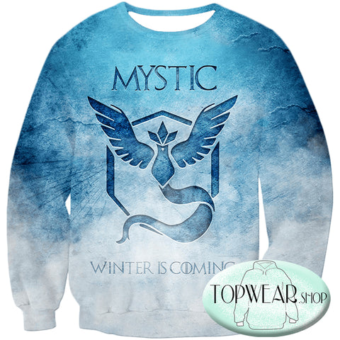 Image of Pokemon Hoodies - Articuno Mystic Pokemon 3D Zip Up Hoodie