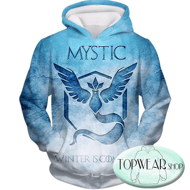 Pokemon Hoodies - Articuno Mystic Pokemon 3D Zip Up Hoodie