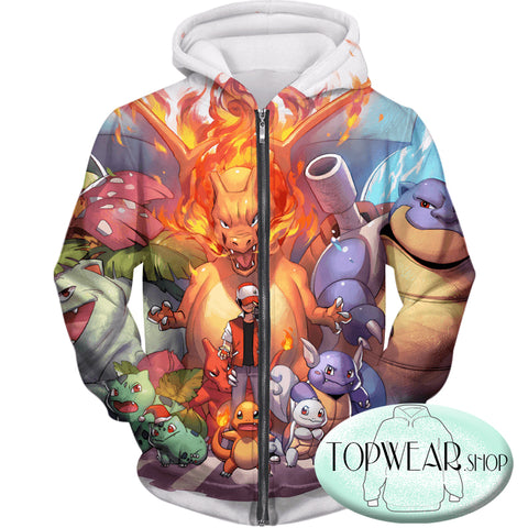 Image of Pokemon Sweatshirts - First Generation Pokemons 3D Sweatshirt