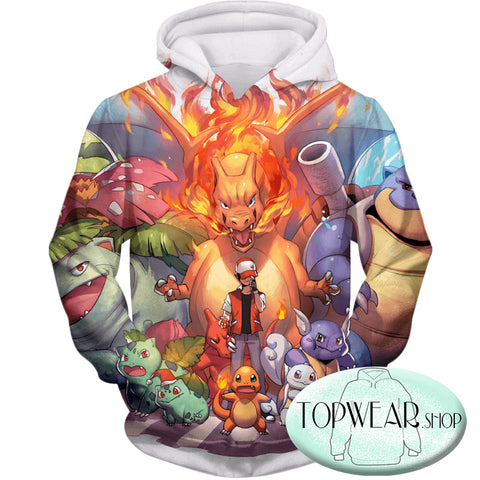 Image of Pokemon Hoodies - First Generation Pokemons 3D Zip Up Hoodie