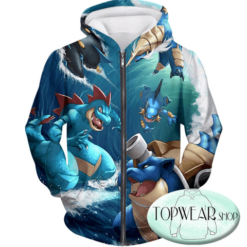 Pokemon Hoodies - All Powerful Water Type Pokemons Hoodie