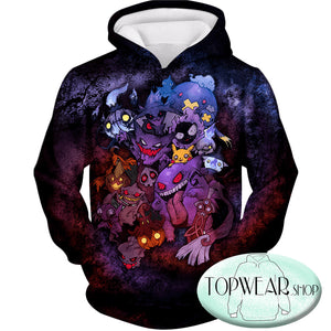 Pokemon Hoodies - All Zombie Type Pokemons 3D Hoodie