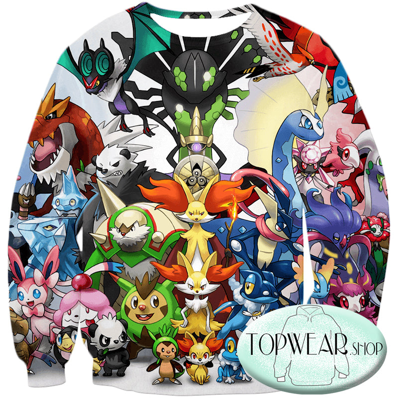 Pokemon Hoodies - Pokemon X and Y Series All in One Zip Up Hoodie