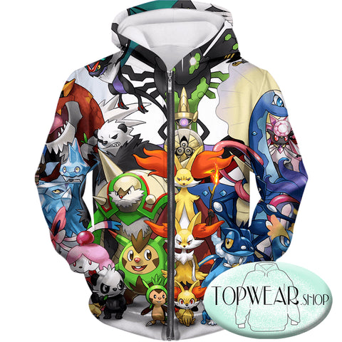 Image of Pokemon Hoodies - Pokemon X and Y Series All in One Hoodie