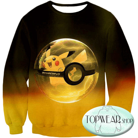 Image of Pokemon Hoodies - Best Pokemon Pikachu Pokeball Zip Up Hoodie