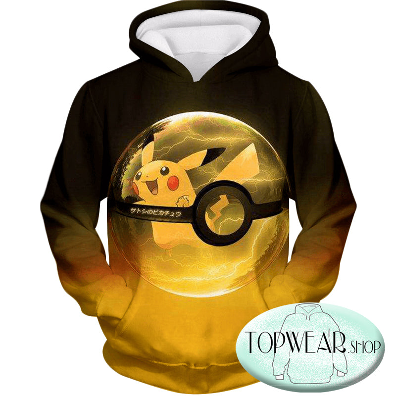 Pokemon Hoodies - Best Pokemon Pikachu Pokeball Hoodie