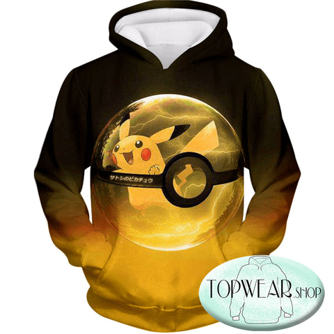 Image of Pokemon Hoodies - Best Pokemon Pikachu Pokeball Hoodie