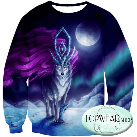 Image of Pokemon Sweatshirts - Pokemon Suicune 3D Sweatshirt
