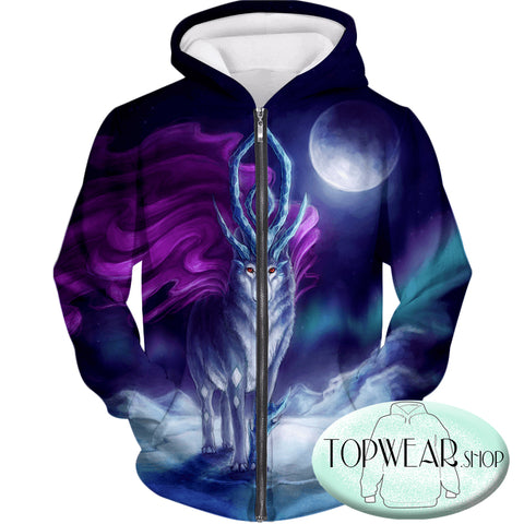 Image of Pokemon Hoodies - Pokemon Suicune 3D Hoodie