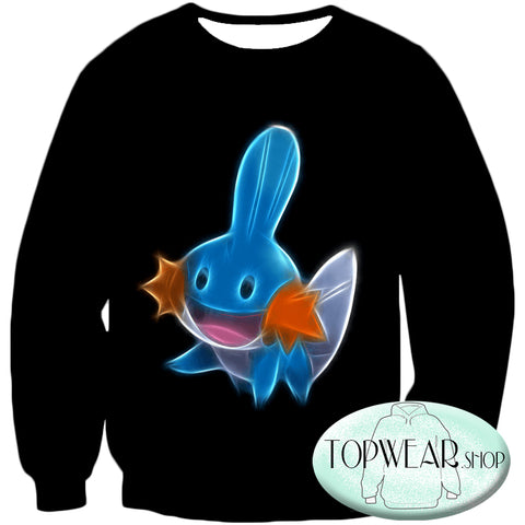 Image of Pokemon Hoodies - Cute Pokemon Mudkip Hoodie