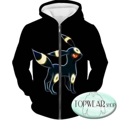 Image of Pokemon Sweatshirts - Eevee Dark Pokemon Evolution 3D Sweatshirt