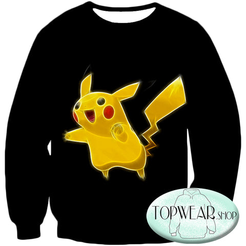 Image of Pokemon Hoodies - Pokemon Pikachu Cool Black Hoodie
